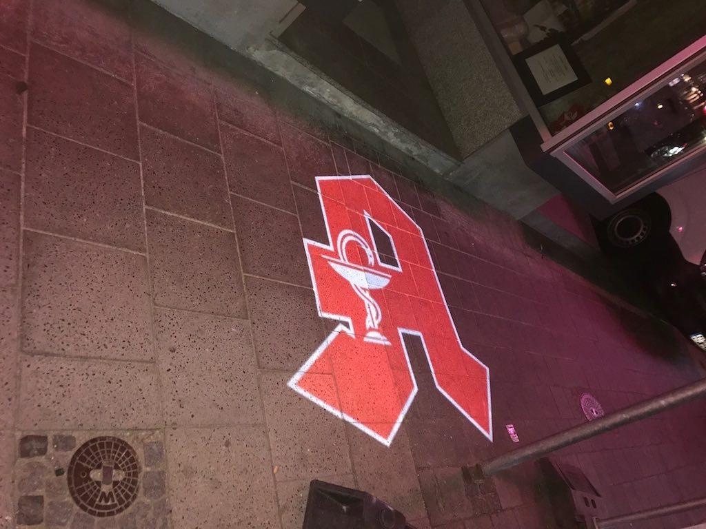 LED Projektor Apotheken A