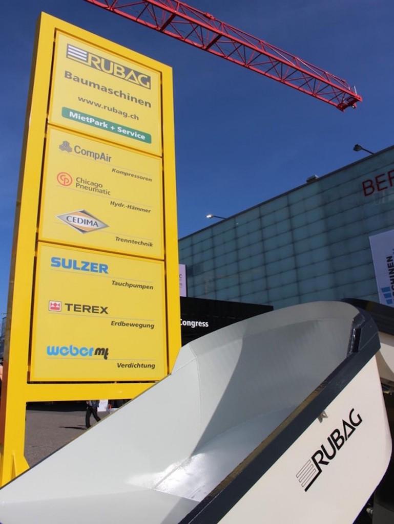 Werbepylon RUBAG AG Schweiz