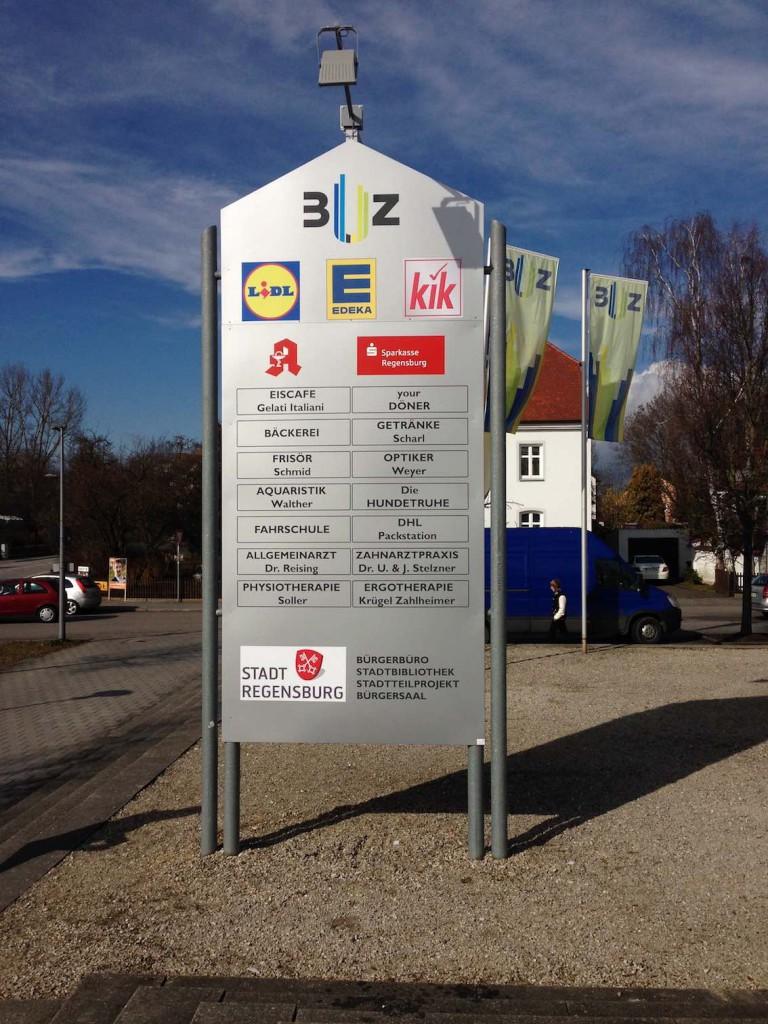 Werbestele BUZ Regensburg
