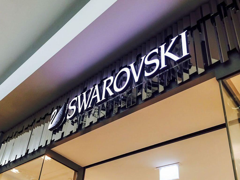 LED Leuchtbuchstaben nach vorne leuchtend Swarovski