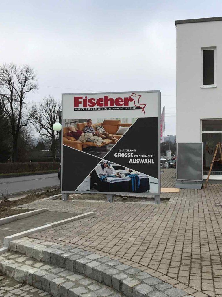 Werbepylon Fischer_1