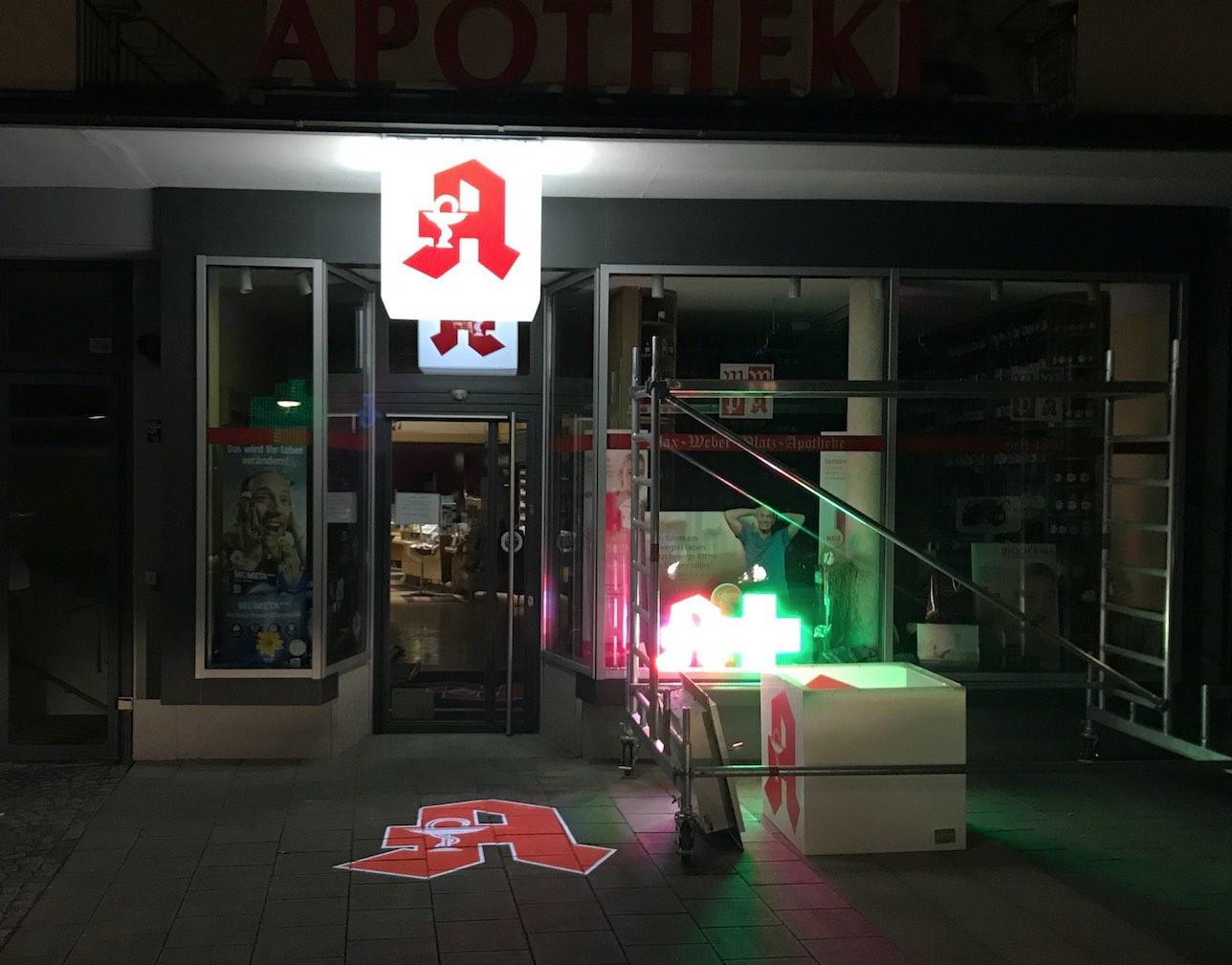 LED Projektoren Apotheke