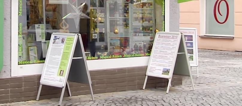Werbeaufsteller Kundenstopper Verbot Amberg