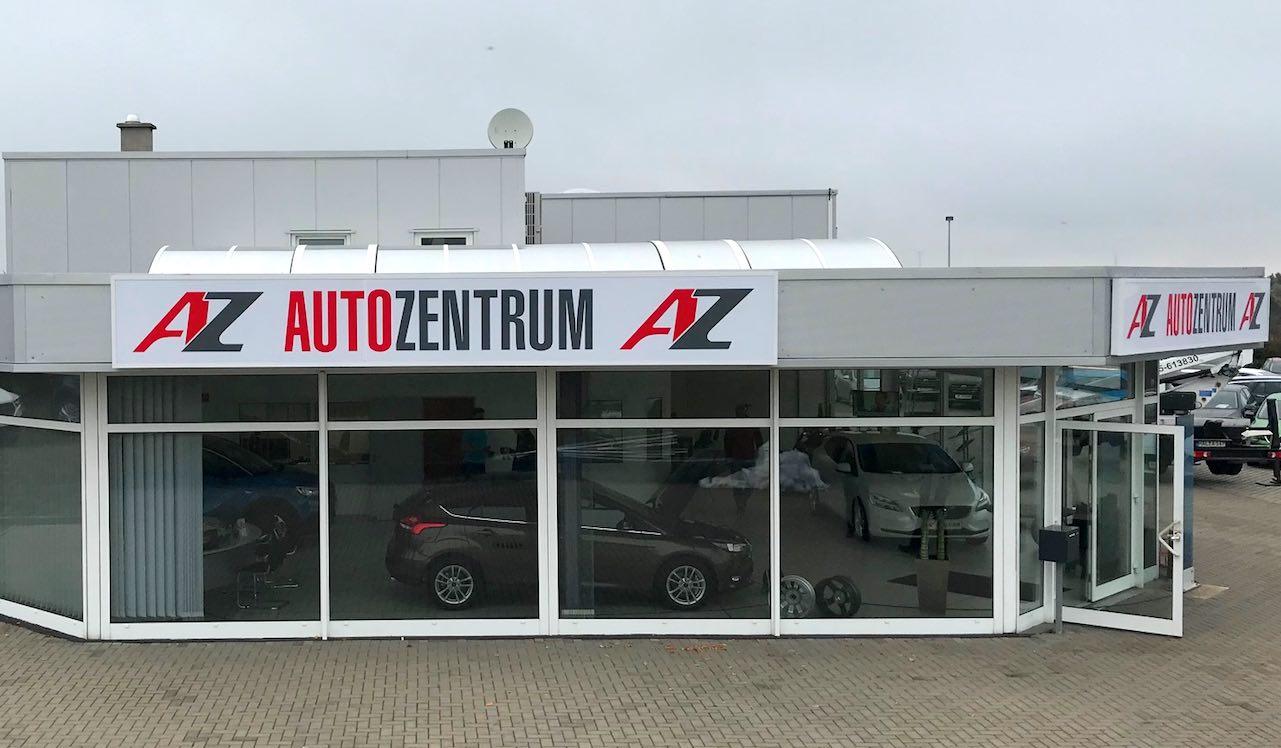 Autohaus Leuchtreklame Umrüstung Autozentrum