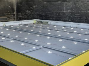 LED Beleuchtung Spanntuchtransparent