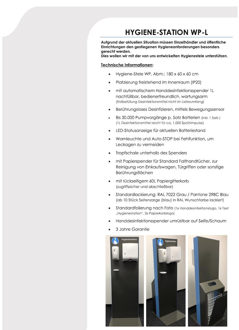 Hygienestation WP-L