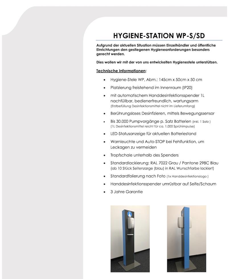 Hygienestation WP-S:SD