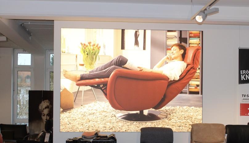 Spanntuchtransparent Indoor Möbelhaus
