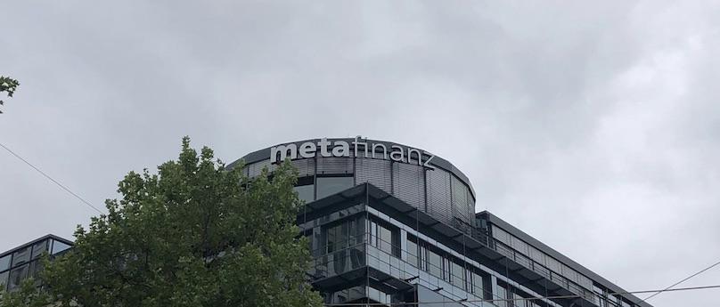 Metafinanz München Leuchtreklame