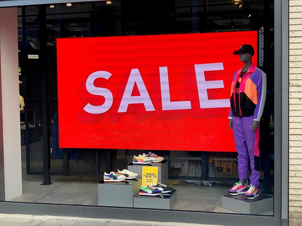 Elektronische Werbetafel Shopping Schaufenster